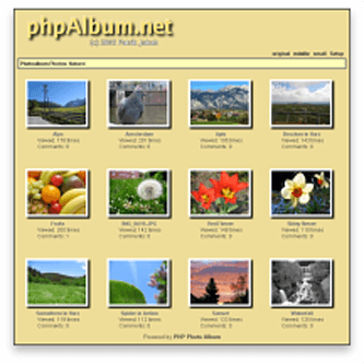 phpAlbum Website Hosting