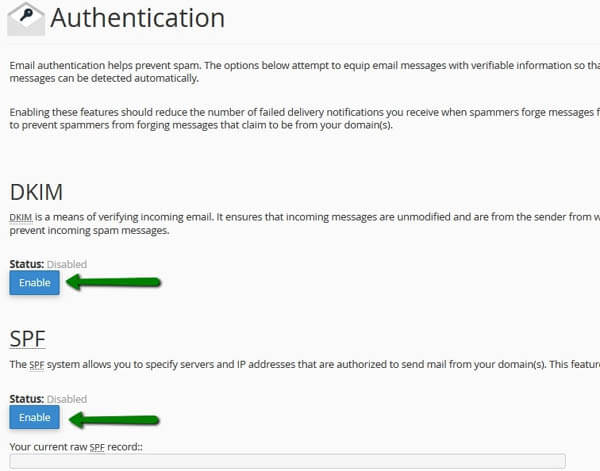 cPanel Email Authentication Tool