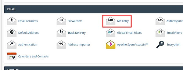 cPanel mx record