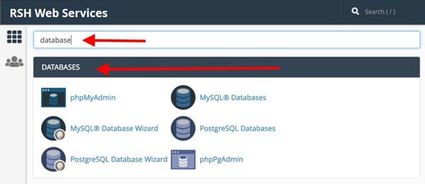 cpanel search