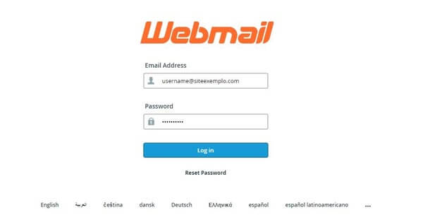 Webmail log in