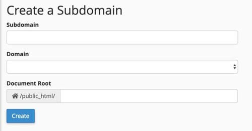 subdomain form